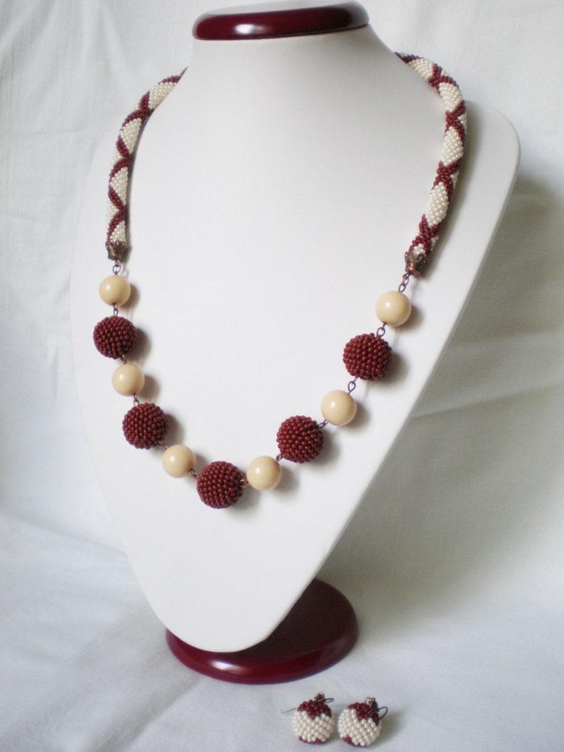 Elegante Collana Di Perline Gioielli Di Uncinetto Collana Etsy