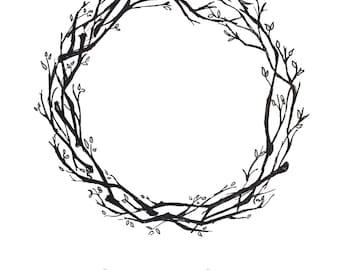 fingerprint wreath etsy