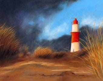 Lighthouse ~ ~ Fine Art Print/art print ~ ~ Beach Lighthouse Pastel