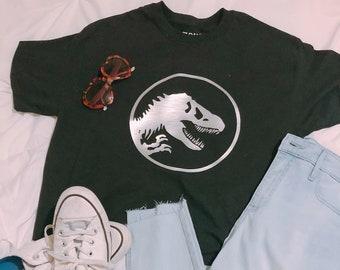 148950c9e8d74 Jurassic Park Inspired Cropped Tee