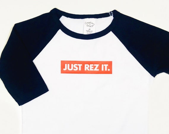 Just Rez It Toddler Baseball Tee