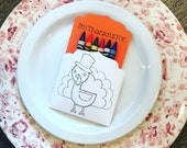 Thanksgiving Coloring Placemats - Turkey Party Favor - Kids Thanksgiving Table - Kids Table Setting - Kids Table Kit - Thanksgiving - Turkey