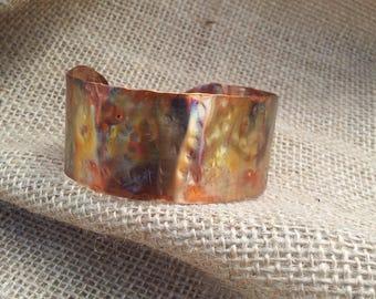 Copper cuff bracelet boho, gypsy, festival.