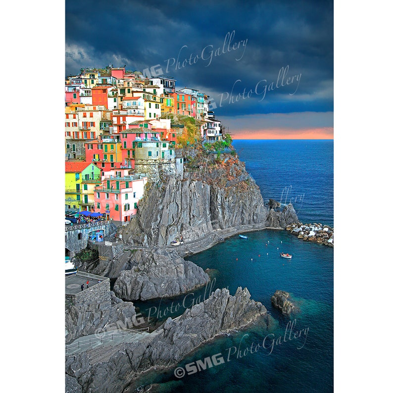 Cinque Terre Manarola Italy Print Photo Photograph image 0
