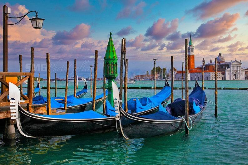 Venice Canal Photo Photograph Canvas Print Gondolas Grand image 0