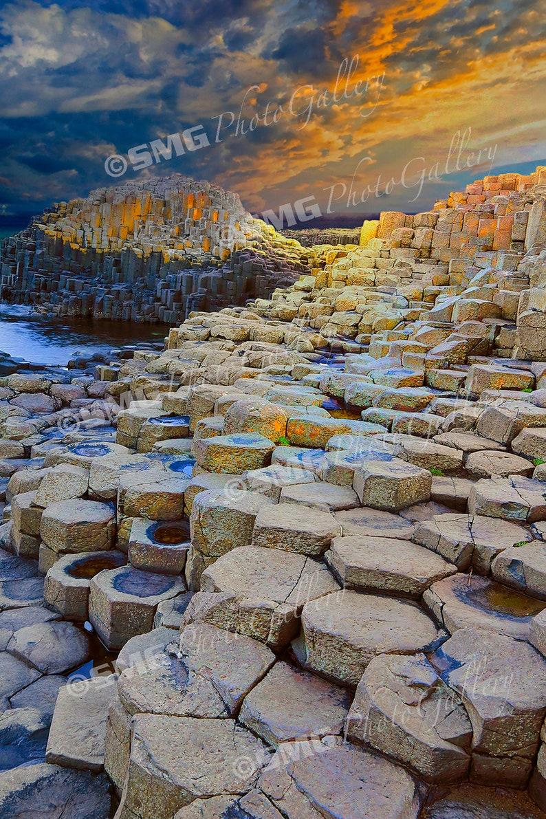 Ireland Giant's Causeway Rock Formation Coastline Home image 0