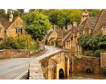 Cotswolds, Print, Photo, England, Street Scene, Quaint Village, Wall Art, Travel Photos, Fine Art Photography