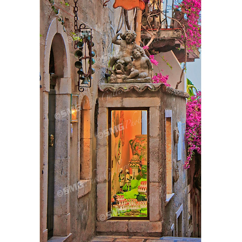 Taormina Sicily Italy Alley Street Scene Store Home image 0