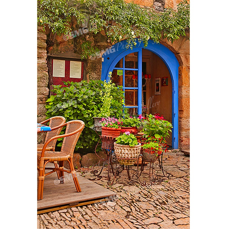 Spain Outdoor Cafe Street Scene Restaurant Home Decor image 0
