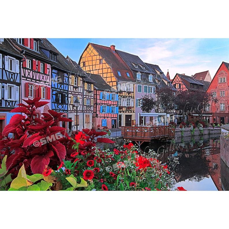 France Alsace Colmar Village Canal Colorful Home Decor image 0