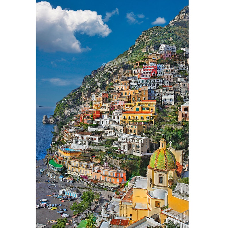 Positano Italy Photograph Italian Hillside Village Photo image 0