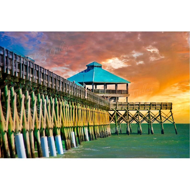 Charleston South Carolina Beach Fishing Pier Home Decor image 0
