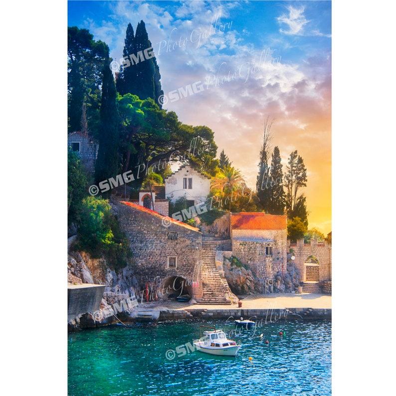 Croatia Sunset Dalmatian Coast Seaside Adriatic Home image 0