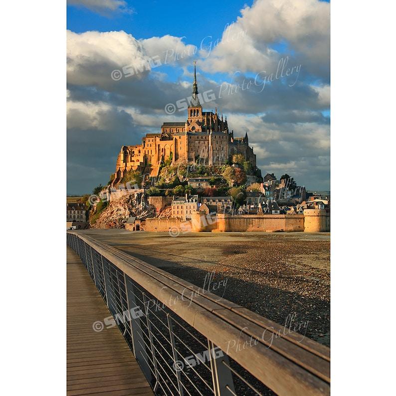 France Mont Saint Michel Normandy Morning Sun Home Decor image 0