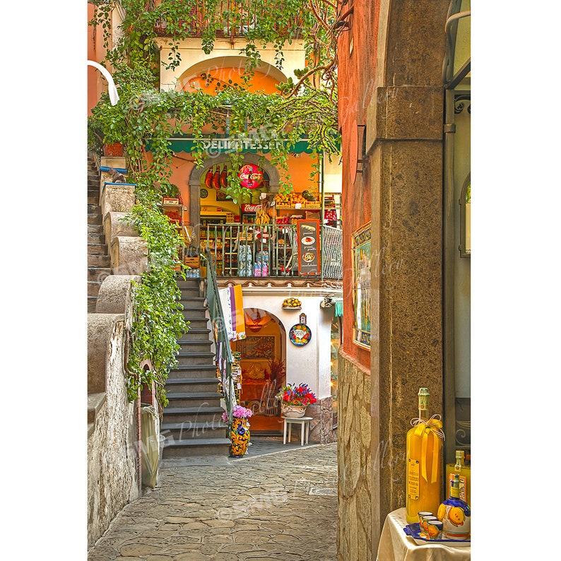 Positano Amalfi Coast Italy Street Scene Market Home image 0