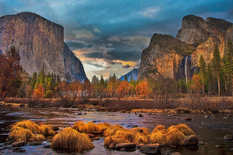 Yosemite California National Park Sunset River Home image 0