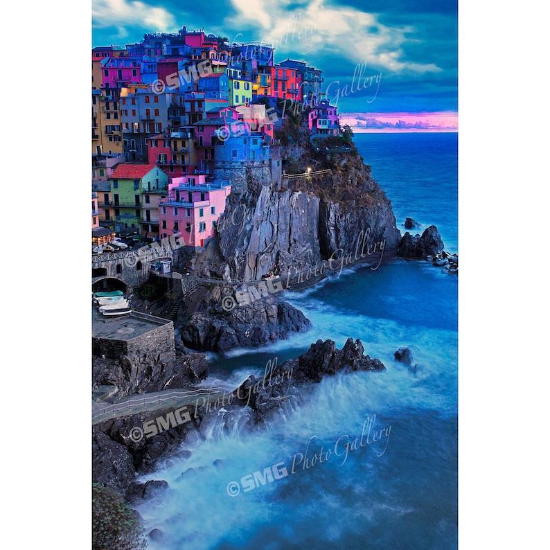 Manarola Cinque Terre Italy Night Scene Evening Home image 0