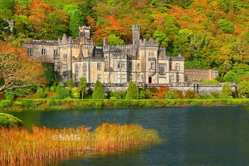 Ireland Irish Castle Kylemore Abbey Galway Autumn Home image 0
