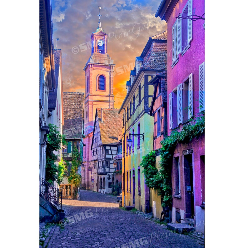 France Alsace Village Street Scene Wine Region Home image 0