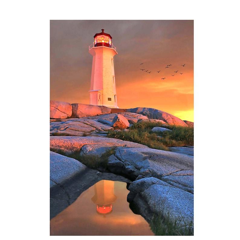 Peggy's Cove Photo Nova Scotia Print Canada Lighthouse image 0
