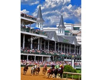 Churchill Downs Photograph, Louisville, Kentucky Derby Picture, Thoroughbreds, Horses, Wall Art, Travel Photos, Fine Art Photography