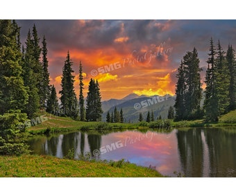 Colorado Photos, Crested Butte Photo, Sunset, Reflection, Lake, Wall Art, Travel Photos, Fine Art, Photography, Canvas, Metal, Matted Print
