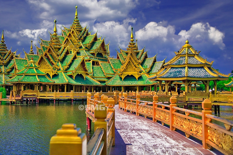 Thailand Temple Buddhism Ancient Colorful Home Decor image 0