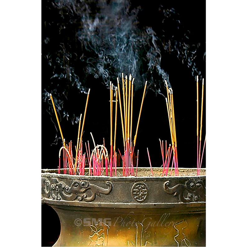Vietnam Temple Buddhism Incense Spiritual Home Decor image 0