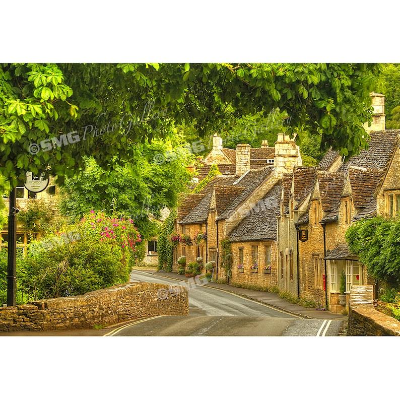 Cotswolds Photo Print England Street Scene Quaint image 0