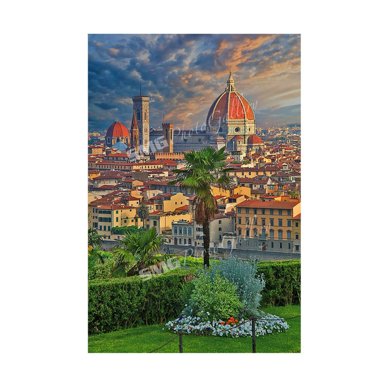Florence Tuscany Italy Cathedral Morning Sun Home Decor image 0