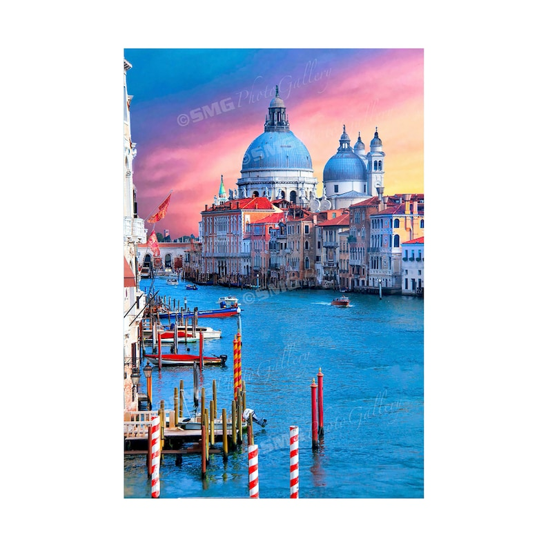 Venice Italy Grand Canal Colorful Facades Church Home image 0