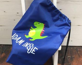 Personalised dinosaur gym bag e639ec9dfdac5
