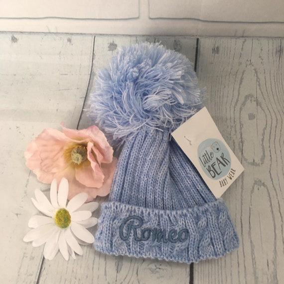 c2b3d710781 Personalised Child Pom Pom Hat Pom Pom Hat Bobble Hat