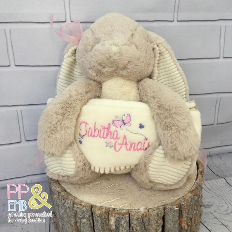 Personalised Baby Blanket with Teddy Design  Birth//Christening Gift//Boy//Girl