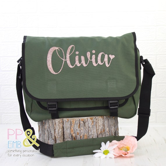the perfect school bag Star Messenger Bag personalised with a name work back great alternative to a backpack!