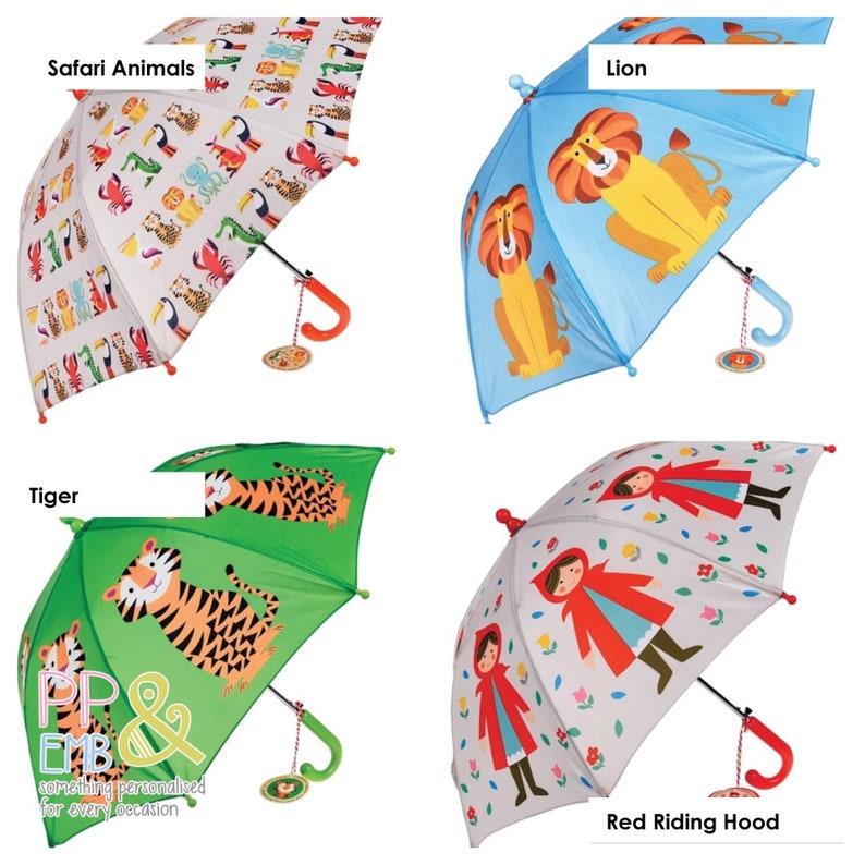 Dinosaur Personalised Kids Umbrella Name in 2 colour print