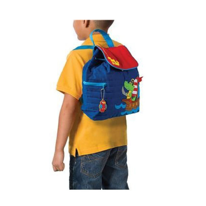 Personalised Farm Animal Stephen Joseph Backpack with Tractor Embroidered with a name