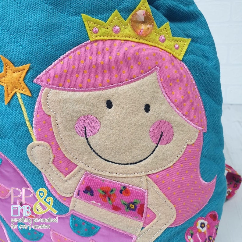 Mermaid Stephen Joseph Backpack Bath Towels and Water Bottle all Personalised with a Name