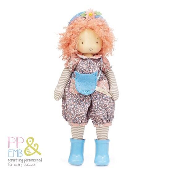 Pink//Grey Stripe Bunnies By The Bay Elsie Plush Toy