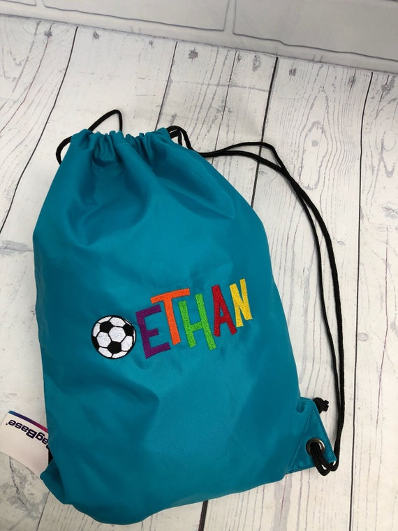Personalised Football Gymbag Cool Kids Boys Gift Present Birthday