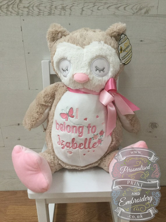 Owl Teddy Embroidered with a message