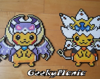 Pokemon Pikachu Disguise Into Rowlet Perler Beads Etsy