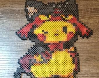Perler bead pikachu | Etsy
