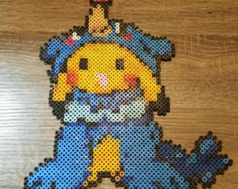 Pokemon Pikachu Déguisé En Rowlet Perler Beads Etsy