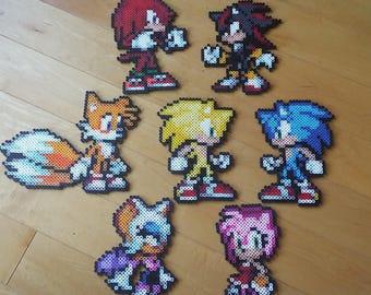 Sonic Perler Etsy