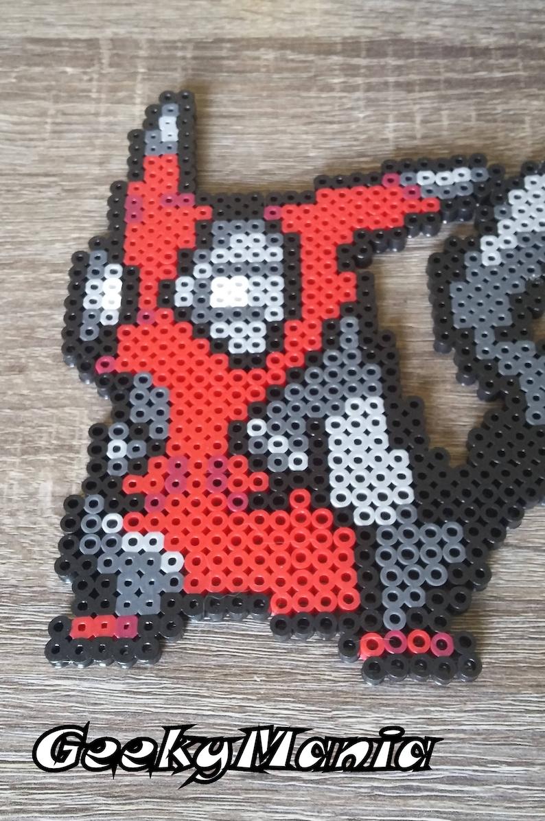 Pokemon - Pikachu/Deadpool Mashup Perler Beads