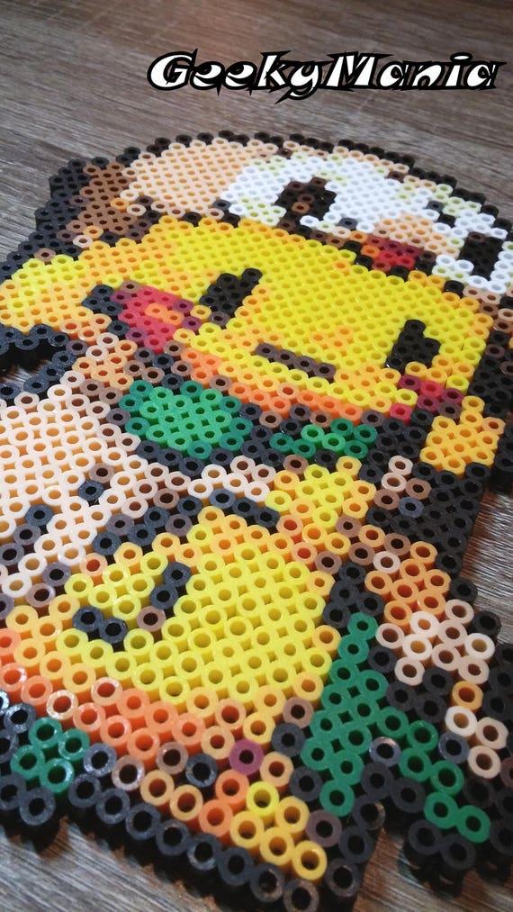 Pokemon Pikachu Déguisé En Rowlet Perler Beads