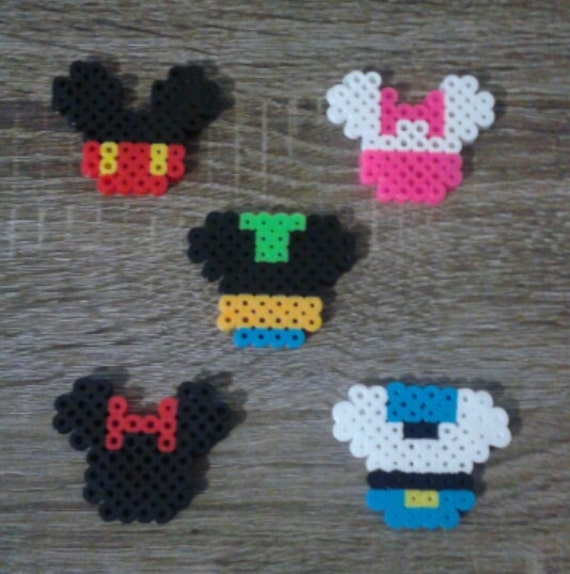 Items Similar To Little Disney Characters Magnets Perler Beads On Etsy