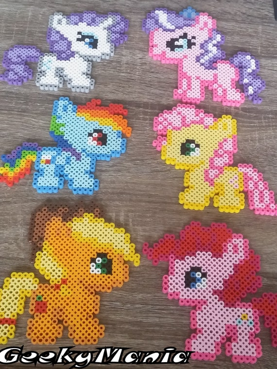 My Little Pony Perler Beads Sprites Etsy