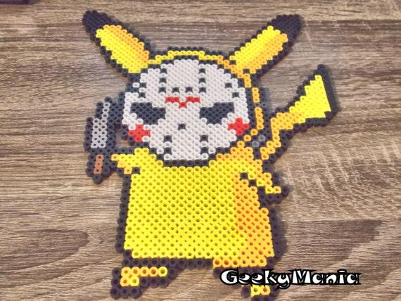 Pikachu halloween Pokemon halloween Perle a repasser modeles et ...